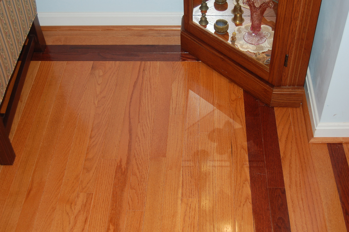 Oak and cherry hardwood flooring bel air construction for Md hardwood flooring