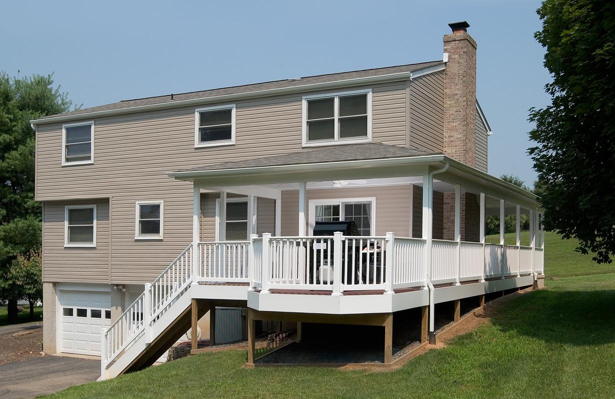 Wrap Around Deck Construction : Wrap around porch bel air construction maryland