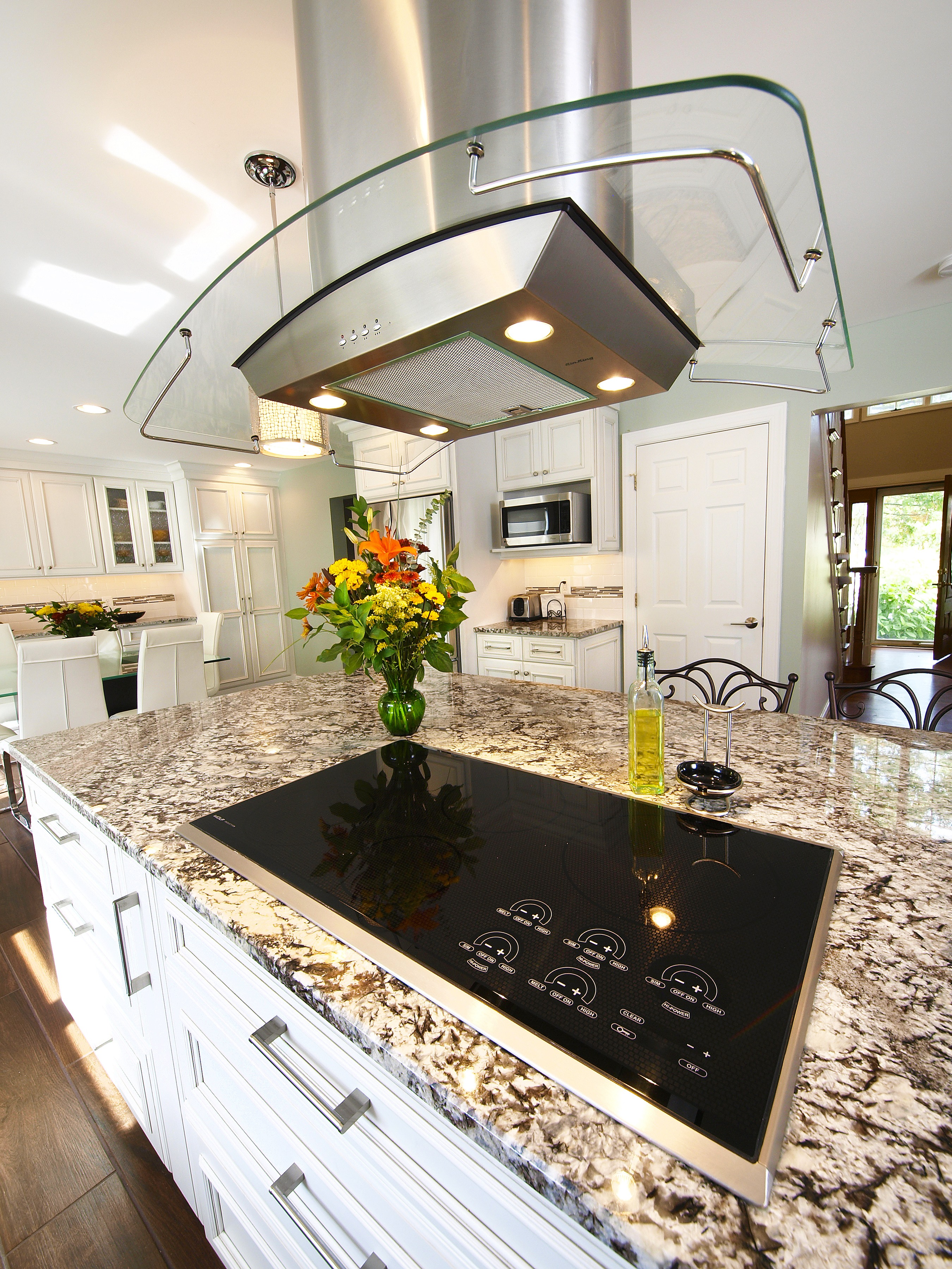 kitchen remodel with large island bel air construction