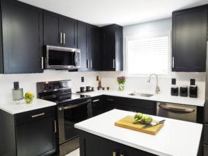 black cabinet kitchen remodel