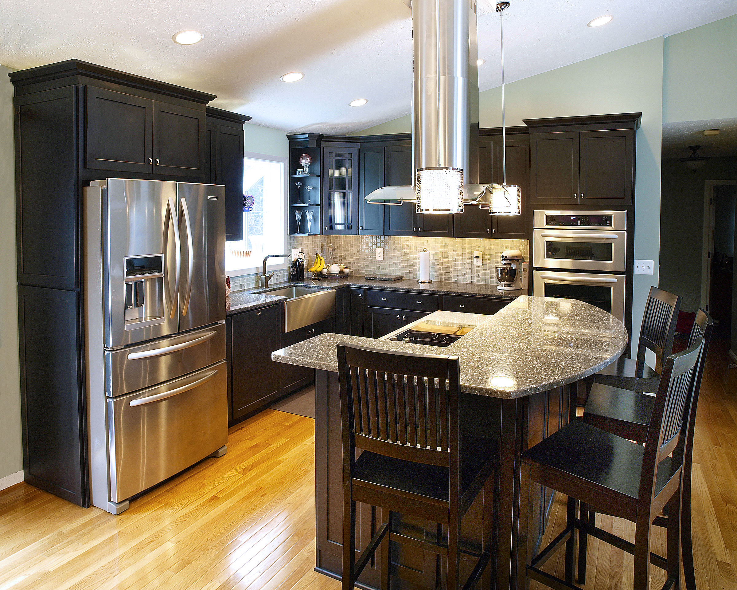 Contemporary eat in kitchen renovation bel air for Baltimore kitchen remodeling