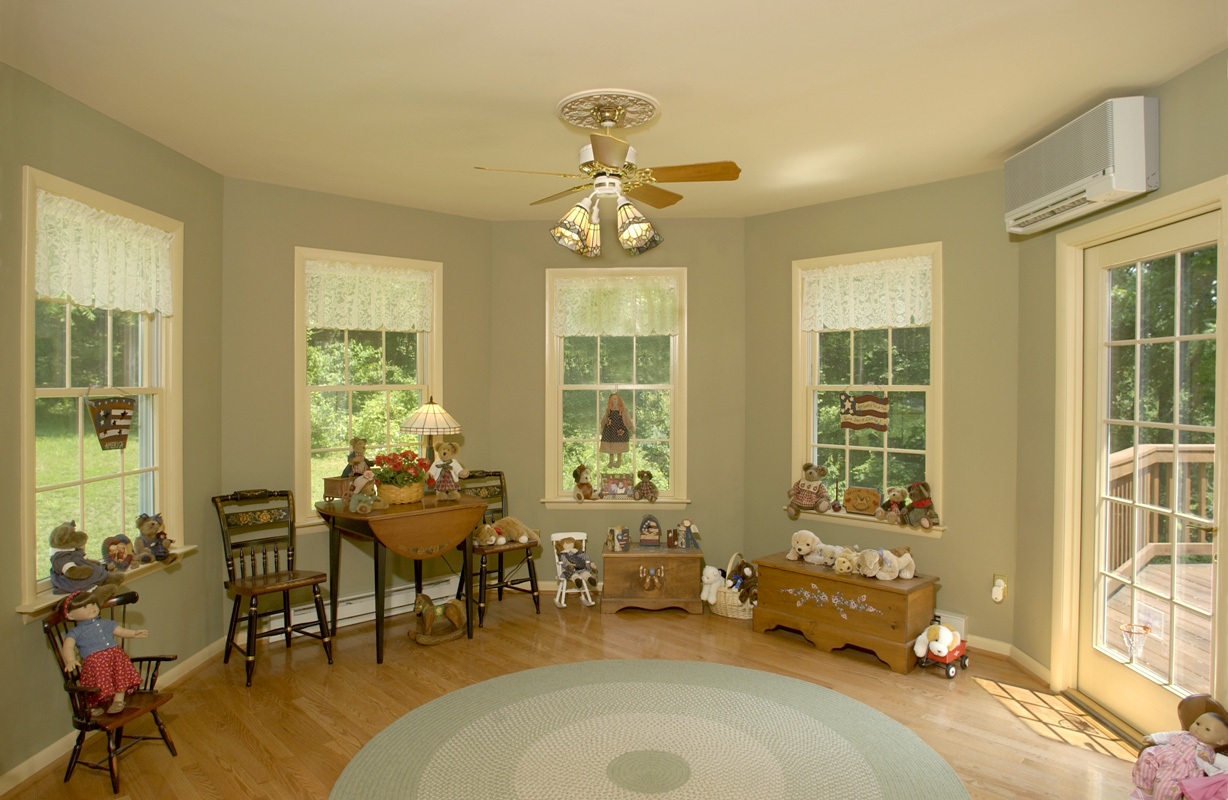 Octagonal Playroom And Portico Addition Bel Air