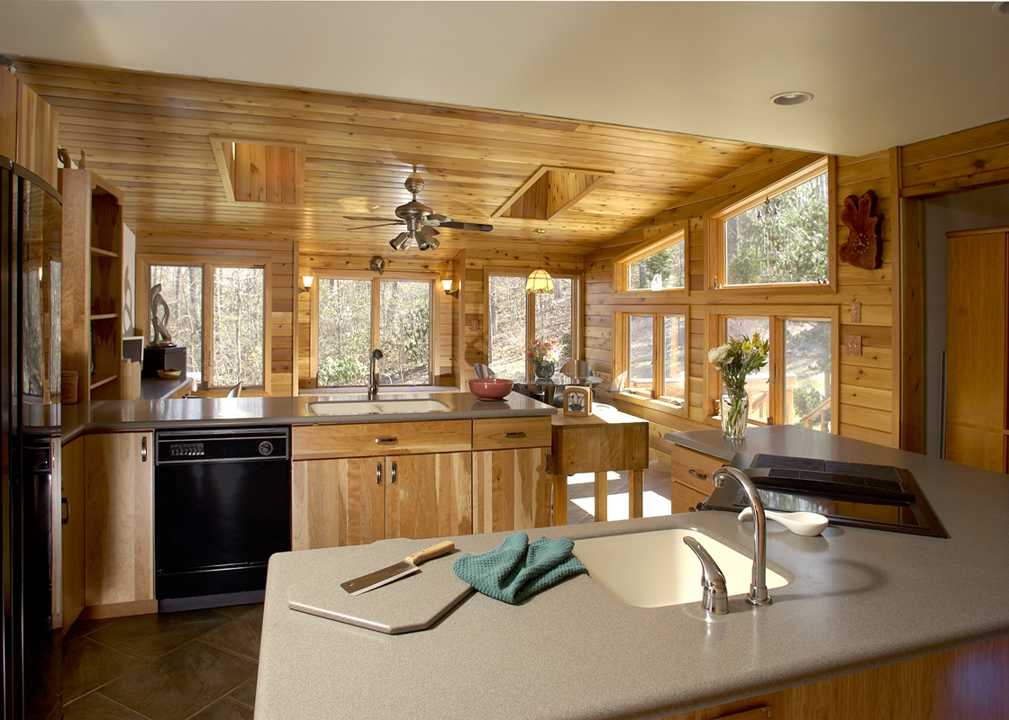 rustic sunroom addition and kitchen remodel - bel-air construction